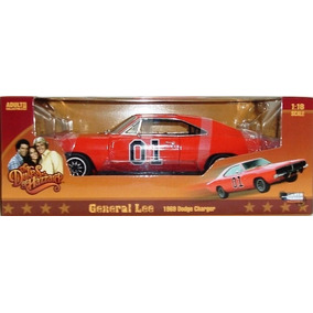 El333 1/18 General Lee Charger 69 Dukes Of Hazard Autoworld