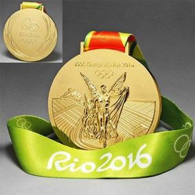 Medalha De Ouro Olimpíadas Rio 2016 Tamanho E Peso Oficial