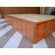Base Sommier 2 Plazas Con Cajones Box Cama Para Colchon