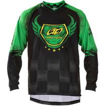 Camisa Motocross Pro Tork Insane 5 Preto/verde