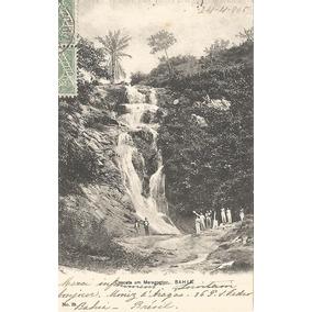 Postal Bahia, Cascata Em Maragogipe. Col.genésio Pitanga.