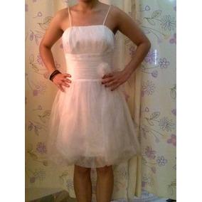 Vestido Perla T-28 Organza Cristal Juvenil Y Elegante Pm0