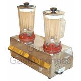Licuadora Industrial Profesional 2 Vasos Poli Anion Mixer