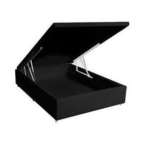 Cama Box Baú Casal Pistão Hidráulico 1,38 X 1,88