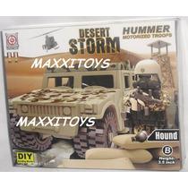 Playset Militar Hummer + Muñeco Soldado Accesorios Comp Lego