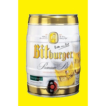 Cerveza Bitburger Premium Barril 5l Made In Alemania -2017-