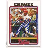 Endy Chávez Autógrafo (auto) En Tarjeta De Béisbol Grl