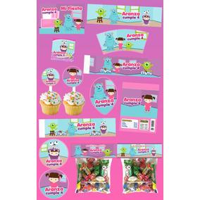 Kit Imprimible Boo Monsters Inc Personalizado 30 Etiquetas