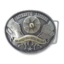 Fivela Country Cowboy 2 Cavalos - Pronta Entrega