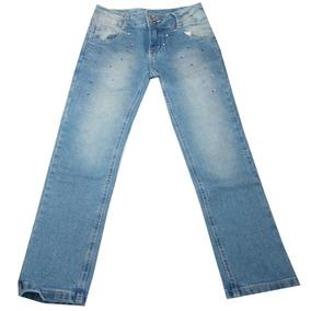 Calça Jeans Feminina Color Girl Apliques