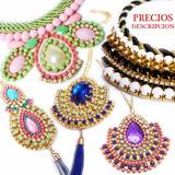 Hermosos Collares Pulseras Zarcillos Elegantes De Cristales