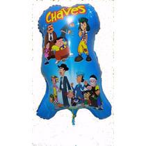 50 Balão Metalizado Turma Do Chaves + Frete Grátis
