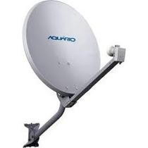 Antena Mini Parabolica Banda Ku 60cm Aquário Dth60 C/ Lnbf
