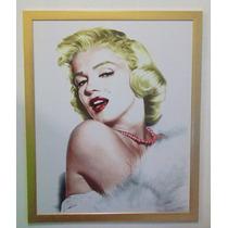 Poster Plastico En Marco Marilyn Monroe 85 Cm X 68 Cm