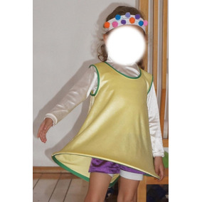 Disfraz De Mimo Payasita Niña Talla 3-4