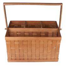Porta Talheres Weave Em Bambu Com 4 Divisórias - L Hermitage