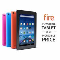 Tablet Kindle Fire 7 16gb En Negro O Azul +estuche Teclado