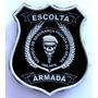 Brasão Emborrachado Escolta Armada; Vigilante; Segurança