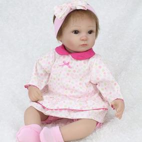 Bebé Reborn Con Vestido 40 Cms Silicón Entrega Inmediata.