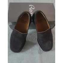 Zapatos Rossi Gamusa Comfort Color Gris Talla 6 (38.5).