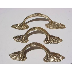 Puxador Em Bronze P/ Móveis Todo Trabalhados- 14 Cm Compr
