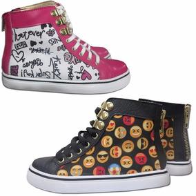 Zapatillas Botitas Estampados De Moda Emoticones O Emojis