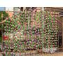 10mts Enredadera Flores Hojas Artificiales Primavera Rosas