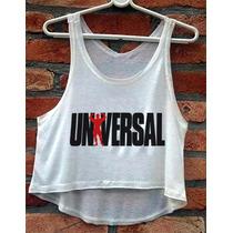 Cropped Universal Feminina Academia Blusa Regata Camiseta