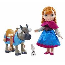 Set De Princesa Anna Con Reno Sven Frozen Promocion