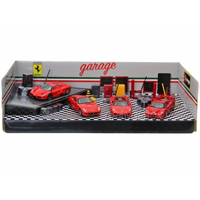 Kit Garage Play Set + 04 Ferrari 1:43 Bburago 31214