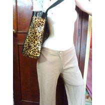 Pantalon De Vestir + Bolso Animal Print
