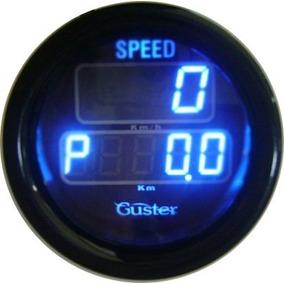 Velocimetro Digital Com Odometro 52mm Guster