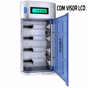 Carregador De Pilhas Universal Aa Aaa C D 9v Lcd Mox Cb795