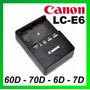 Cargador Original Lc-e6 P/canon 60d 7d 70d 5d Mark Ii Lp-e6