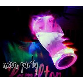 5 Vaso Luminoso Led Luz Multicolor Fiesta Eventos Neon Antro