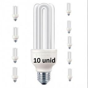 Lâmpada Fluorescente Compacta 15w 127v E27 3u Kit 10 Peças
