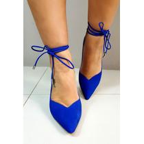 Scarpin Morena Rosa Salto Alto Azul V17