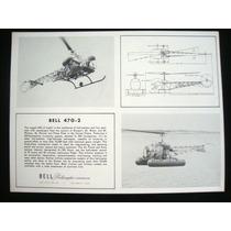 Avião Foto Fotografia Antiga Bell 47 G - 2