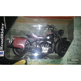Moto Indian Militar Black Version Newray Escala 1:6