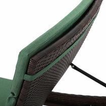 Silla De Mimbre Olivia Outdoor Color Verde Jungla