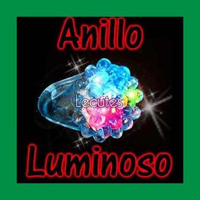 10 Anillos Luminosos Luz Led Multicolor Neon Fiesta Rave Bar
