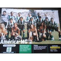 Poster Placar América Mineiro Campeão Brasileiro 97 21x27 Cm