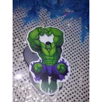 12 Invitacion Con Cadenita Hulk