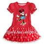 Vestido Importado Minnie Rojo Volados Y+ropa Gap Polo Disney