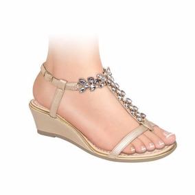 Sandalia Huarache Con Diamantes Elegantes! 153403