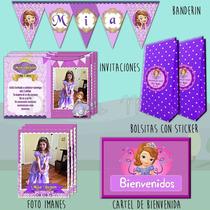 Promo20 Princesita Sofia Invitaciones Bolsitas Foto Imanes