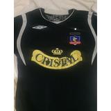 Camiseta Clásica Colo Colo De Chile Marca Umbro Negra M