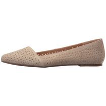 Zapato Mujer Lucky Brand Archh 2 Café Planos Gamuza Cuero N