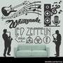 Adesivo Decorativo Notas Musicais Musical Com 1,00m X 48cm