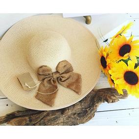 Sombrero Playa Paja De Dama Playero De Mujer
